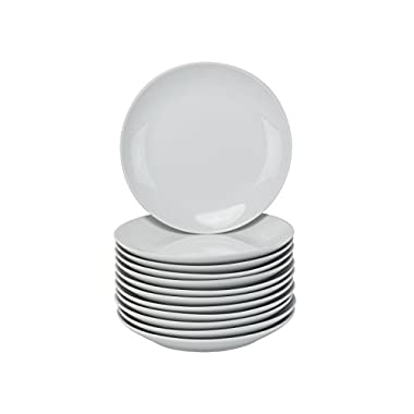 10 Strawberry Street CATERING-12CPSLD Coupe Round Plates, Salad, White
