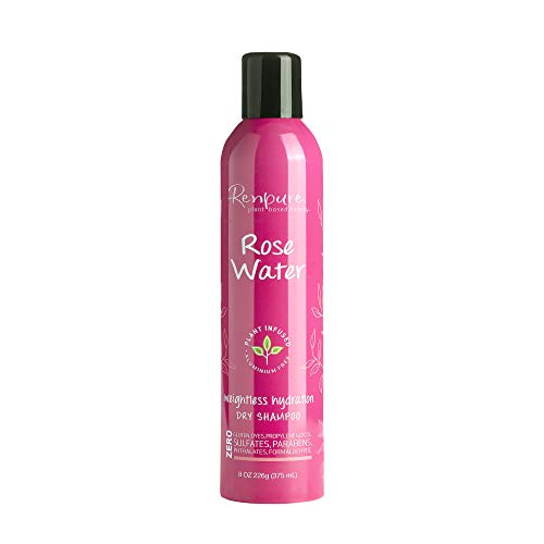 rose waters Renpure plant-based Beauty Rose Water Weightless hydration dry Shampoo, 8 Oz