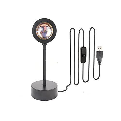 TUTR USB Puesta de Sol Lámpara Puesta de Sol Proyector de ánimo Luz de Estar Dormitorio Dormitorio Luz de Luz Decoración Bar Atmósfera Fondo de fotografía