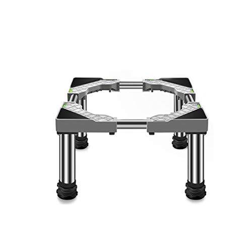 Soporte para Lavadora/Secadora/Refrigerador Altura 19-22cm Ajustable Largo/Ancho 45-65cm Base Pedestal y Marco para Neveras Antivibracion Estante para Cocinas Lavavajillas Vinotecas