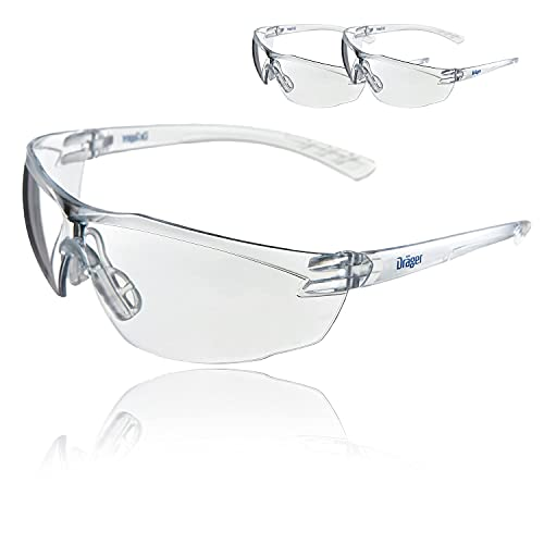 Dräger X-pect 8320 Gafas de Seguridad | Lentes de protección Rayos UV antivaho| Ultraligeras para un Uso intensivo | para Industria, Deporte, Laboratorio