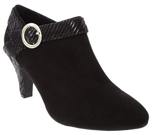 LONDON FOG Womens Becca Heel Ankle Booties Black 9