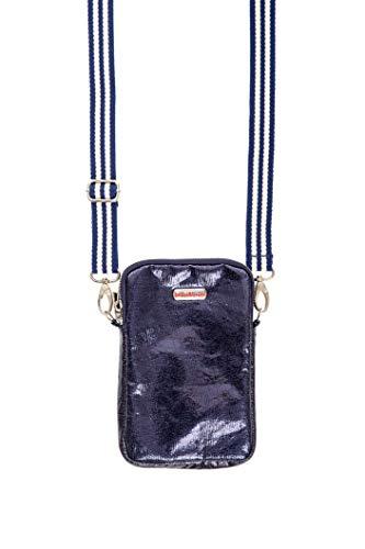 brasi&brasi Tasche Handy&Stripe Glitter Zip Dark Blu NEU!!NEU!!NEU!!