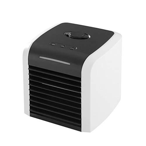 ALUK- Enfriador De Aire Personal Mini Ventilador De Aire Acondicionado Portátil Enfriador De Espacio De Escritorio Ventilador De Mesa USB Personal Enfriador Evaporativo Pequeño Humidificador De Aire