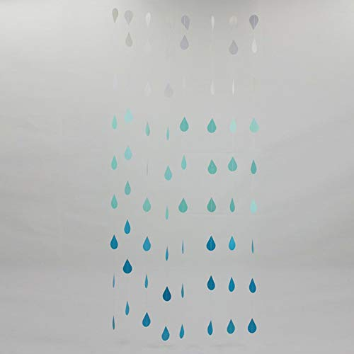 Raindrop Hanging Paper Garlands Wedding Party Birthday Baby Shower Decoration(Blue)
