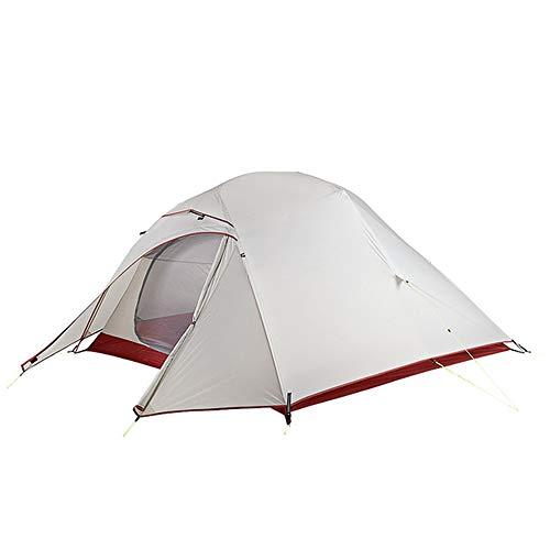 Zelt BLTLYX Zelt Campingzelt 20d Nylon Ultraleicht Camping Wasserdicht Winddichte Wandern Für 3 Personen 20D Grau