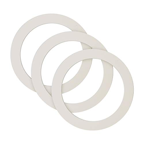 Univen Gasket for Stovetop Espresso Coffee Makers 6 Cup fits Bialetti, Imusa, BC, etc. Made in USA 3 PACK