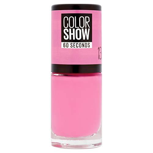 Maybelline ColorShow Nagellack, Nr. 13 NY Princess, bringt die Laufsteg-Trends aus New York auf die Nägel, in kräftigem pink, 7 ml