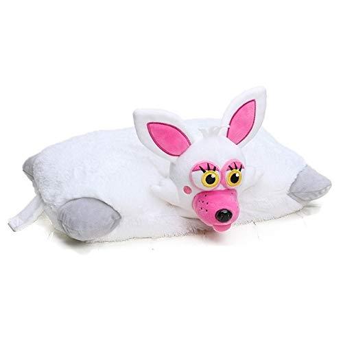 Juantin Store Stuffed Animal Five Nights at Freddy's Toy 43cm30cm FNAF Pillow Mangle Foxy Chica Bonnie Golden Freddy Fazbear Plush Toys Cushion juguetes-White