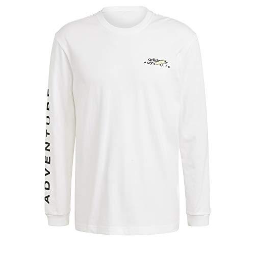 adidas Herren Adv Ls Tee T Shirt, Weiß, M EU