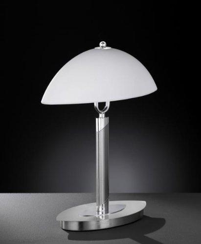 Lámpara de mesa muy elegante con regulador de intensidad táctil, 2 x máx. 40 W.