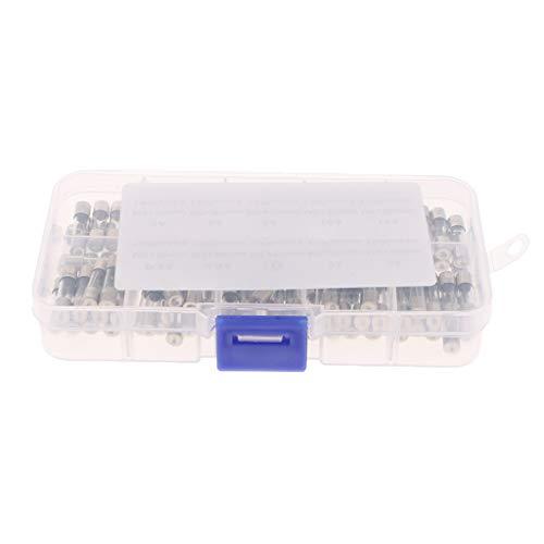 B Blesiya 100 Piezas/Juego 5x20mm Fusibles de Vidrio de Soplado Rápido Tubo de Soplado Rápido Varios Kits