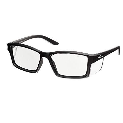 voltX 'Vision' Sicherheitsleser, Vollverglaste Sicherheitsbrille (+2.0 Dioptre, klare Linse) CE EN166ft Zertifiziert - beschlagfreie UV400 Linse