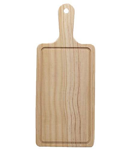 NANXCYR Pizza BoardCassetto di legno solido Rettangolare Pizza Piatto Piatto Piatto Piatto Torta Pane Bistecca Chopping Board Sushi Stile Giapponese Stoviglie,S