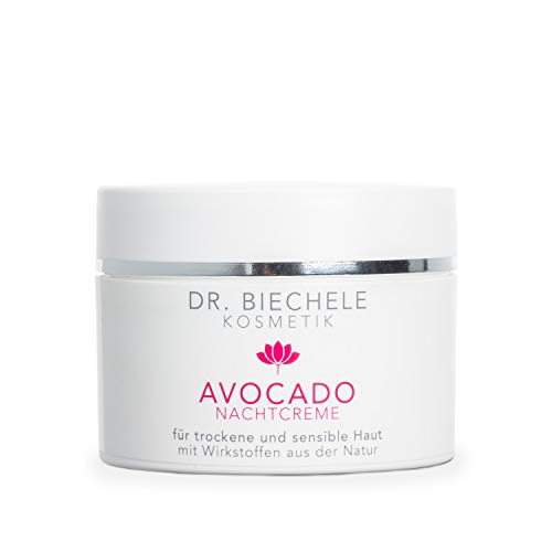 Dr. Biechele AVOCADO Nachtcreme 1er Pack (1 x 50 ml) - reichhaltige Gesichtscreme für sehr trockene, empfindliche Haut für Anti-Aging Schutz & Hautstraffung, Avocadoöl & Mandelöl