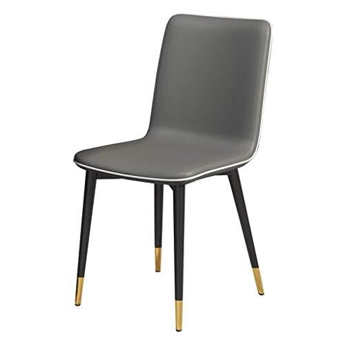 ZSM Armless Akzent-Stuhl Moderner einfaches Wohnzimmer Schlafzimmer Café Geschäft Freizeit Essen Stuhl mit PU-Leder Sitz und hohen Rückenlehne, mehr Farben erhältlich YMIK (Color : Dark Cray)