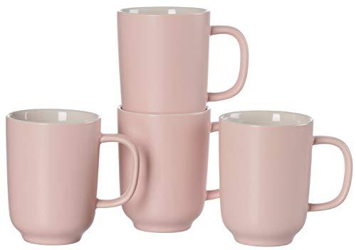 Ritzenhoff & Breker Kaffeebecher-Set Jasper, 4-teilig, je 320 ml, Rosa, Steingut