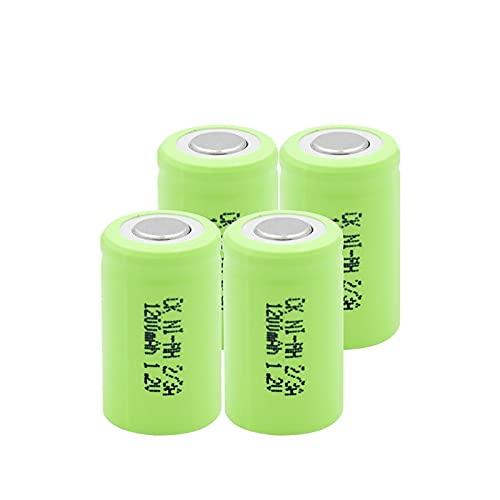 ndegdgswg 1.2V 1200mAh 2 3A Ni MH batería, recargable para LED linterna Banco videocámara Cepillo de dientes 4pcs