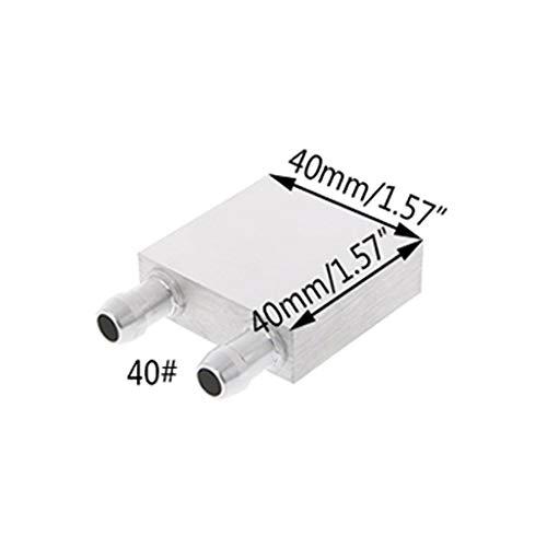 Meipai Bloque de enfriamiento de agua de aluminio primario 30 x 30 mm, 40 x 40 mm, 40 x 240 mm para el sistema de disipador de calor del enfriador de agua líquida, uso plateado para PC portátil CPU