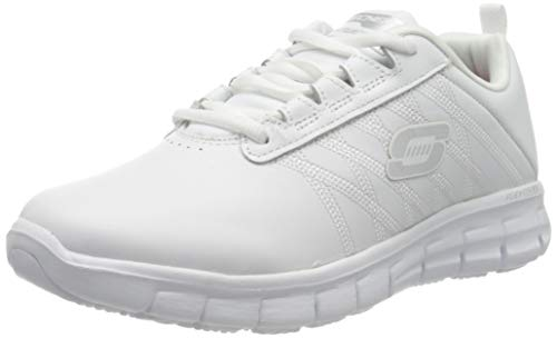 Skechers Women's Sure Track Erath - Ii Lace-up Sneakers, White (White Leather Wht), 8 UK (41 EU)