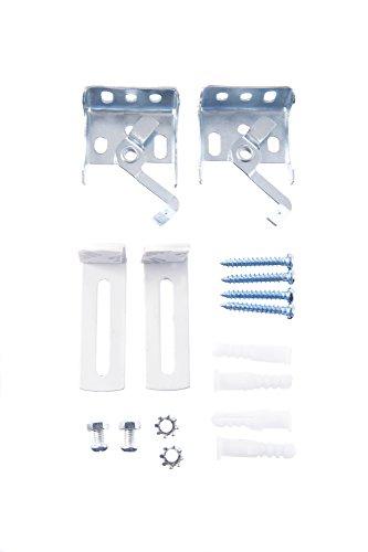 K-home Veneziana.01. SB Morsetto e Accessori Kit di Montaggio per Klemmfix, plastica, 3x 5x 5cm, Colore: Bianco