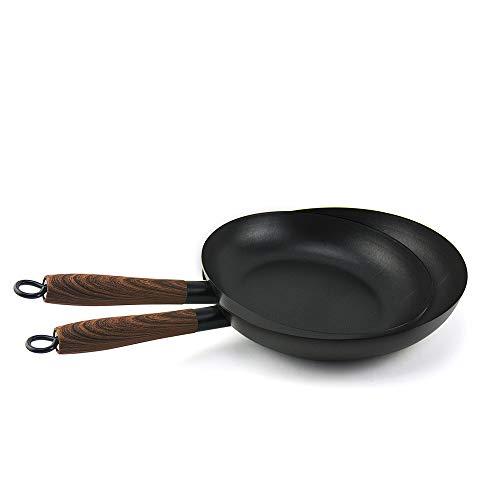 Juego 2 Sartenes, Aluminio Fundido con Antiadherente Tricapa Libre de PFOA, para Todo Tipo de Cocinas Incluida Inducción y Vitrocerámica, Aptas para Lavavajillas (2 juegos: 24+28CM, Mango Made