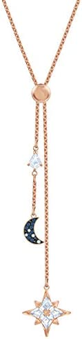 SWAROVSKI Symbolic Moon and Star Y Necklace for Women with a White Stone Star Pendant and a product image
