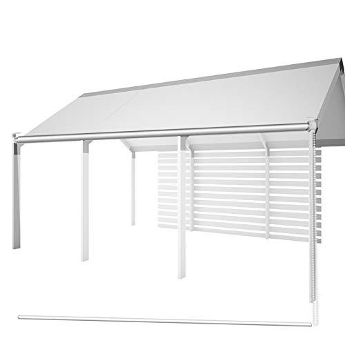 HYDT Store en bambou Outdoor Pergola Pavillon Clear Rollos, Kunststoff PVC Safety Sneeze Guard Blind für Rezeption, 60/80/100/120/140 cm Breit (Size : 60×160cm(23.6 in×63 in))