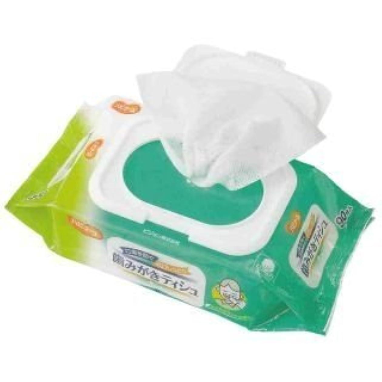 不安定な許す昇る口臭を防ぐ&お口しっとり!ふきとりやすいコットンメッシュシート!お口が乾燥して、お口の臭いが気になるときに!歯みがきティシュ 90枚入【2個セット】