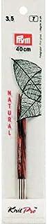 Prym Rundstricknadelspitzen Natural Farbig Kurz 8,7 cm 3,50 mm Agujas redondas, Madera, multicolor, 3,5 mm