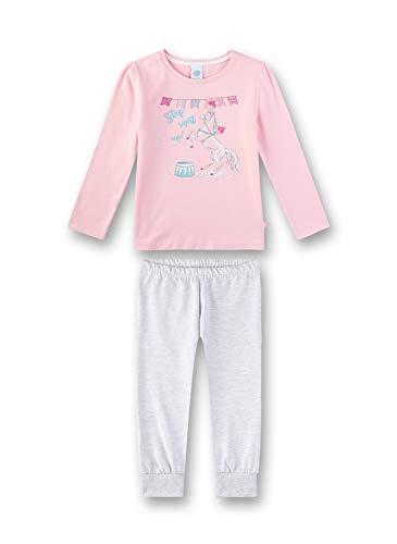 Sanetta Mädchen Pyjama Zweiteiliger Schlafanzug, Rosa (Rosarot 3532), (Herstellergröße: 116)