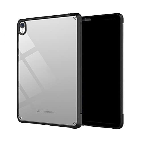 Kompatibel mit iPad Air 4 Hülle 10.9 2020 4. Generation Schutzhülle Transparente TPU-Softshell-Schutzhülle mit Stiftschlitz Schlanke Schutzhülle Ständer Magnetisch Aufladen Stiftes MuSheng