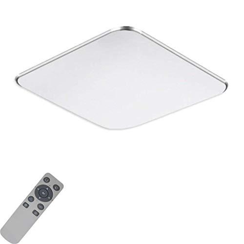 MIWOOHO 36W Modern Dimmbar LED Ultraslim Deckenleuchte Badleuchte Deckenlampe Flurleuchte Silber (3000-6500K)
