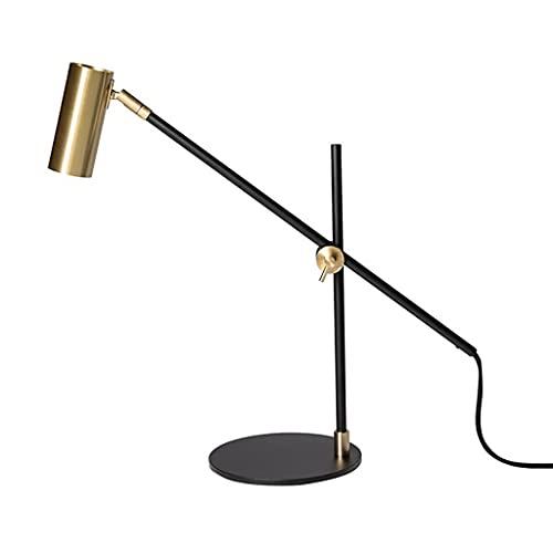 Lámpara de mesa Simple Nordic Diseñador Sueco Lámpara de escritorio Metal Creatividad Lámpara de Oficina para Estudio Lectura Oficina Dormitorio Mesa