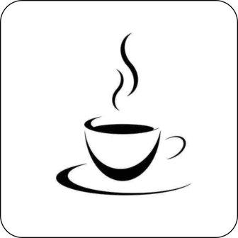 Creativ Deluxe Hinweisschilder, Piktogramme - Kaffeetasse -