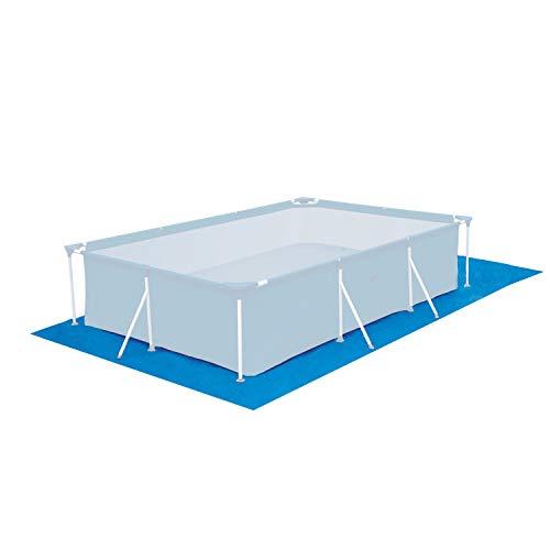 Poolunterlage 485x254 cm rechteckig Frame Pool 450x250cm - 110g/m² PE - Wasserdicht - Bodenfolie Unterlagen Bodenschutzplane Unterlegplane Bodenplane - Stahlrahmenpool Pool Swimmingpool Poolzubehör