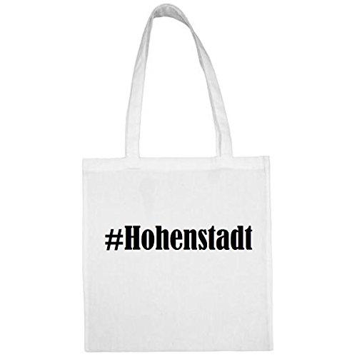 Tasche #Hohenstadt Größe 38x42 Farbe Weiss Druck Schwarz
