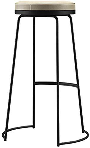 SLZFLSSHPK Taburete Alto Taburete Bar Moderna Simple Taburete de la Barra con la PU cojín de Cuero del hogar nórdicos Pub Ocio Bar Silla de Comedor Art Hierro Taburete Alto Negro/Blanco/Oro