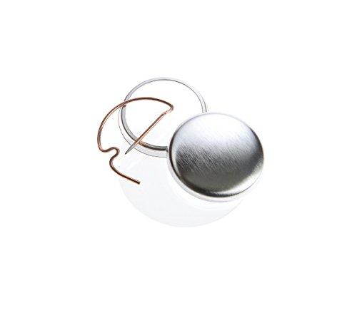 Buttonrohlinge 25mm (100 Stück) mit Bogennadel für Badgematic Buttonmaschine
