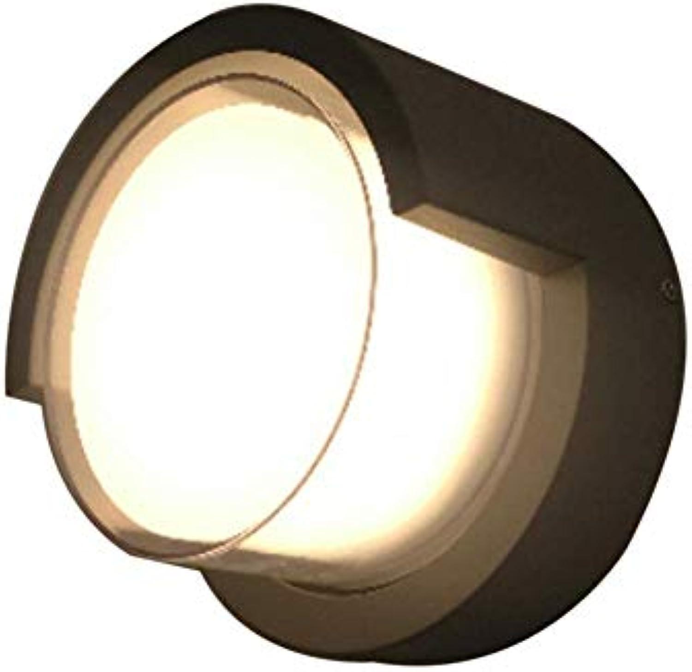 MEILIWU Wandleuchte Lampe, Schwarz im Freien wasserdichte Wand-Lampe, Leistung 10W, warmes Wei, Does Reines Aluminium nicht rostet, LED-Licht Perlen, Energieeinsparung und Umweltschutz-16  10cm