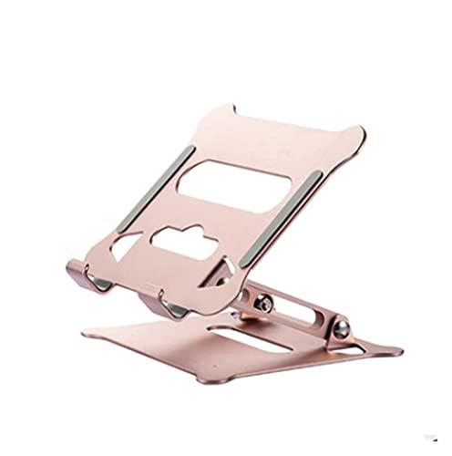Portátil para Notebook Ajustable aleación de Aluminio Plegable portátil para portátil Macbook Soporte de computadora Soporte de elevación Refrigeración de la computadora portátil Cama