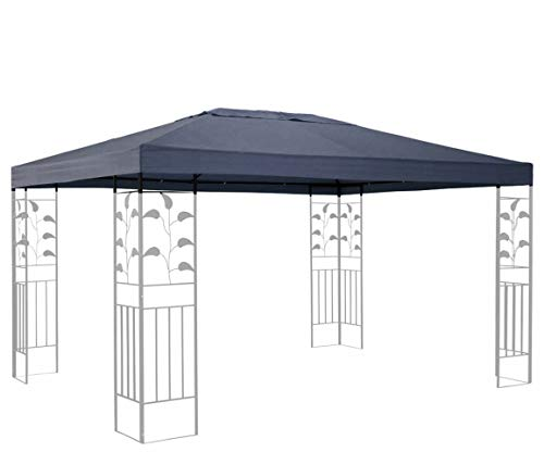 Quick-Star Replacement Roof for Leaves Gazebo 3 x 4 m Grey Replacement Cover