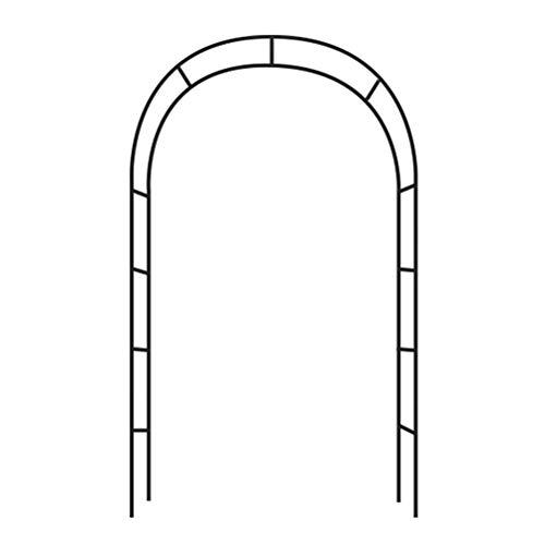MLXG Plantas trepadoras Soporte de Flores Balcón Exterior Pared Hierro Forjado Ocio Arco de Metal Ligero Jardín de Bodas para Bodas Decoración de Fiesta de cumpleaños