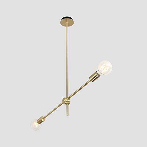 WnLit Nordischer Hängeleuchte postmoderner Kronleuchter einfaches Wohnzimmer Esszimmer Hängelampe Schlafzimmer Pendelleuchte Nachttisch kreative Zweig Eisen LED-Leuchte,2H