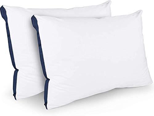 Utopia Bedding Slaapkussens Set van 2 - Kussensloop van katoenmix - Zachte kussens van topkwaliteit voor voor-, achter- en zijslapers (Marineblauw, 45 x 66 cm)