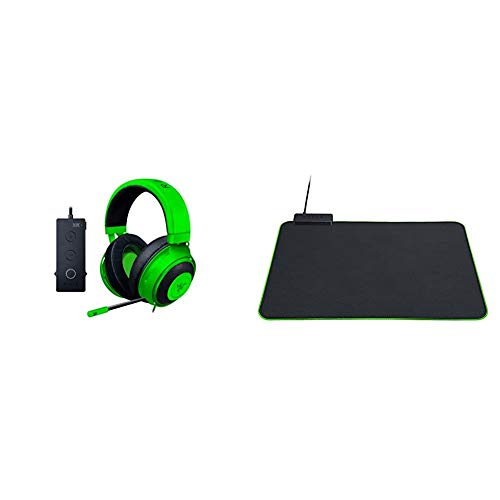 Razer Kraken Tournament Edition - Esports Gaming Headset, Cuffie Cablate con Controller Audio USB & Goliathus Chroma Goliathus Tappetino Morbido Superficie in Tessuto a Microtrama