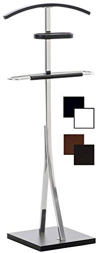 CLP Indossatore Camera In Legno Navan Con Staffa Per Pantaloni E Gruccia Per Camicia I Servomuto Design Moderno In Metallo, Colore:Nero