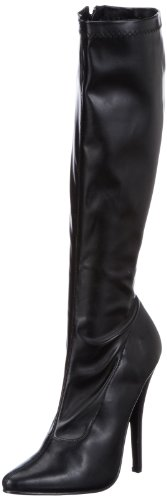 Devious DOMINA-2000, Damen Stiefel, Schwarz (Blk str pu), EU 44 (UK 11) (US 14)