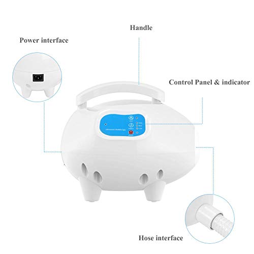 Electric Bathtub Bubble Massage Mat, Waterproof Tub Massaging Spa, Portable Full Body Bubbling Bath Thermal Massager Machine with Air Hose, Motorized Air Pump, Adjustable Bubble(US), Mat Random Color