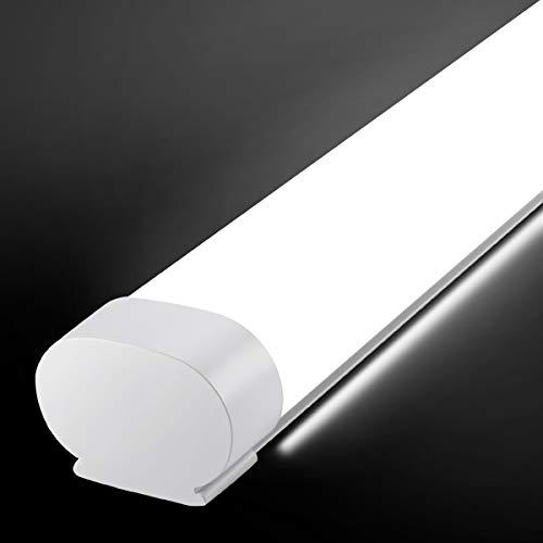 Oeegoo LED Feuchtraumleuchte 150CM 51W 5100LM, IP65 Wasserdicht Led Röhre Deckenlampe Neutralweiß 4000K, Feuchtraumlampe Werstattlampe für Keller Bad Büro Garage Warenhaus Hobbyraum